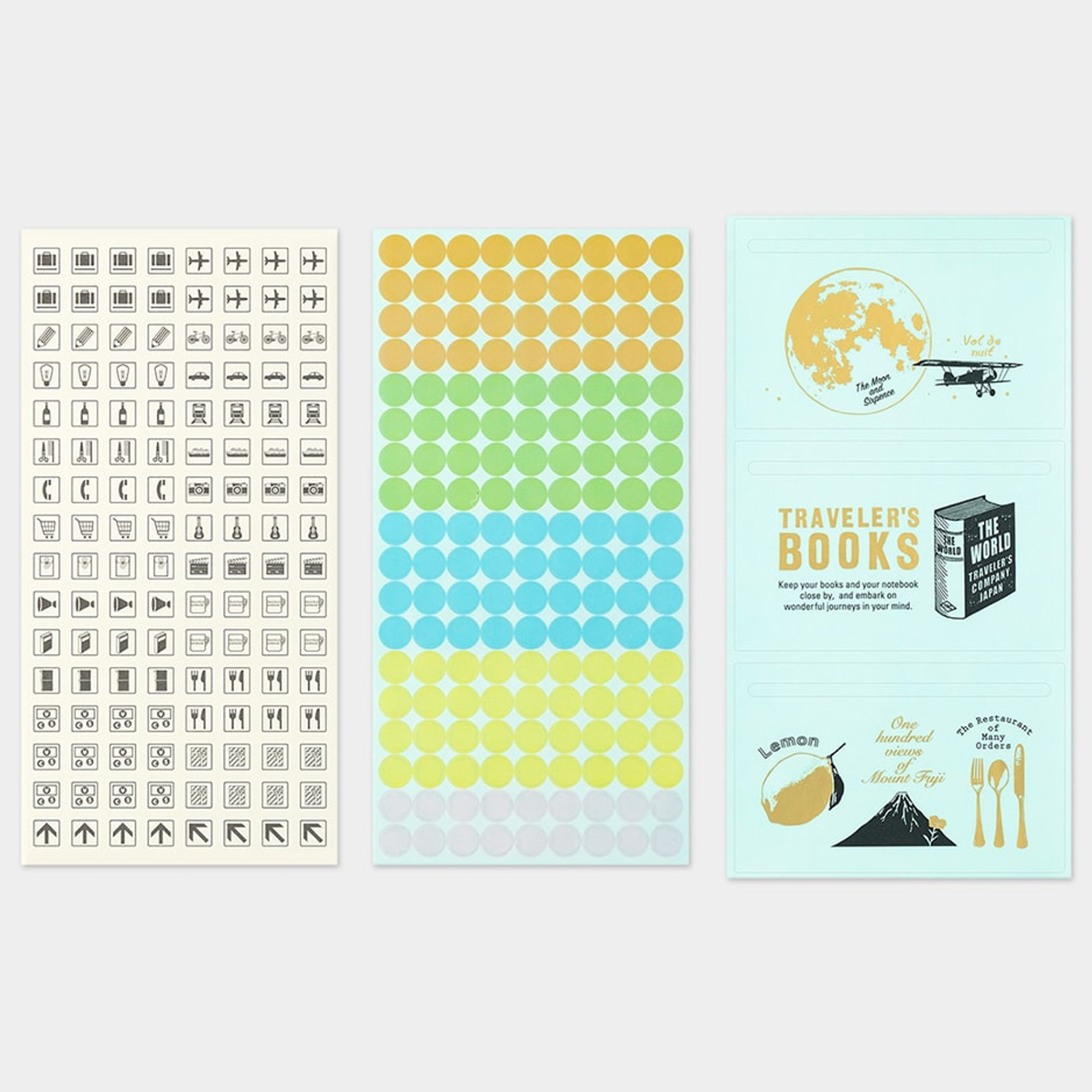 Pre-order Traveler's Notebook Customized Sticker Set for Diary 2021