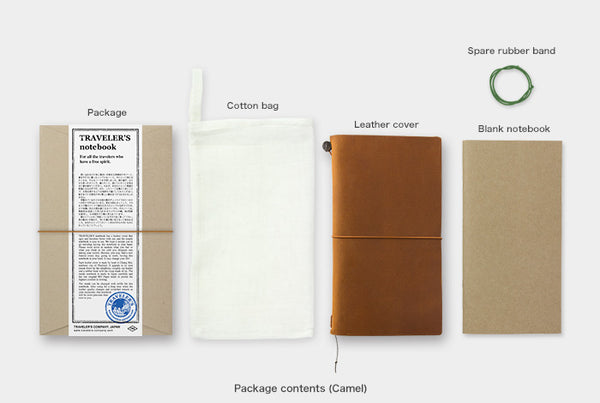 Traveler's Notebook Starter Kit (Regular Size) - Camel