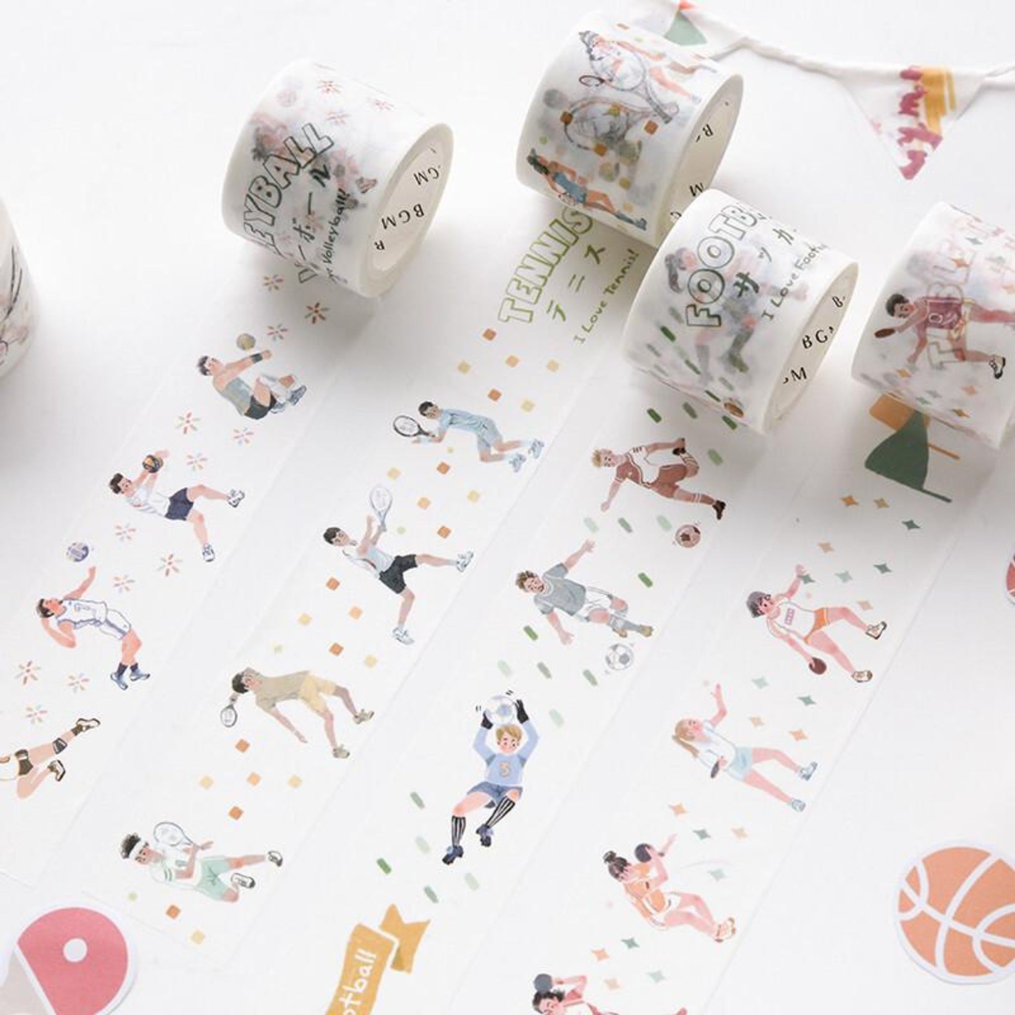 BGM Badminton Washi Tape