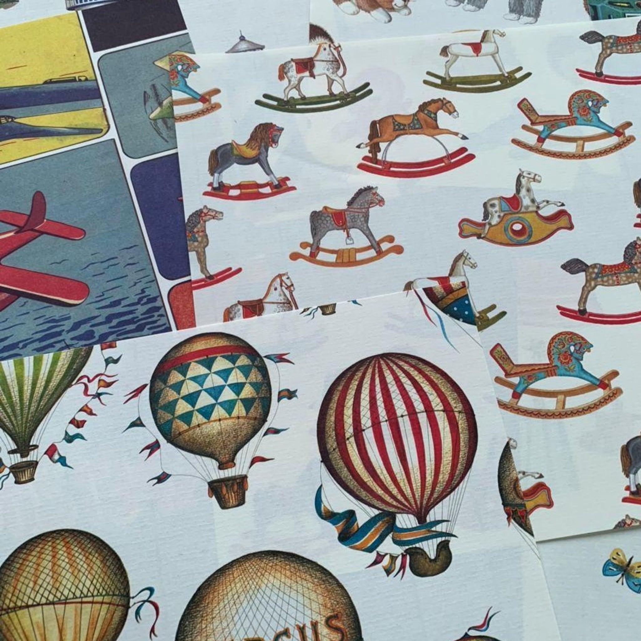 Rossi Vintage Toy Theme Italian Paper