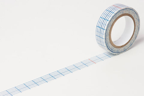 Classiky Grid (Checked) Washi Tapes 12mm Indigo