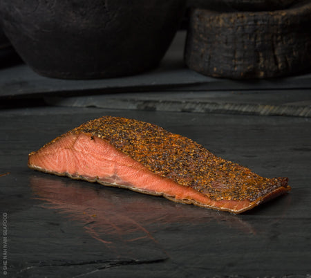 Smoked & Peppered Chinook King Salmon Seafood