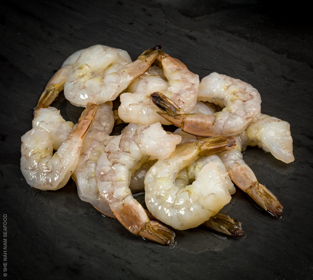 Raw Shrimp Tail On Shellfish Seafood
