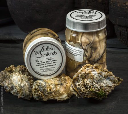 Oyster Meat Shellfish In Jar Seafood