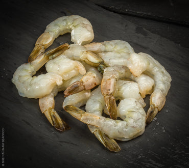 Raw Jumbo Shrimp Tail On By She Nah Nam Seafood Market