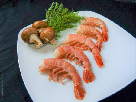 16/20 Pink Patagonian Shrimp Easy Peel Shellfish