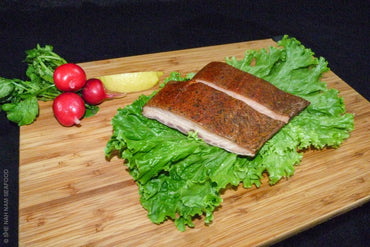 Cajun Style Smoked Native Steelhead Salmon And Seafood