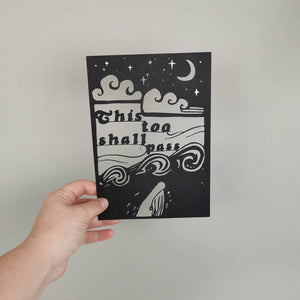 This Too Shall Pass Papercut Quote with Silver Foil