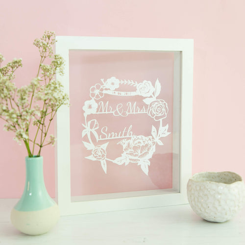 Personalised Summer Wedding Papercut