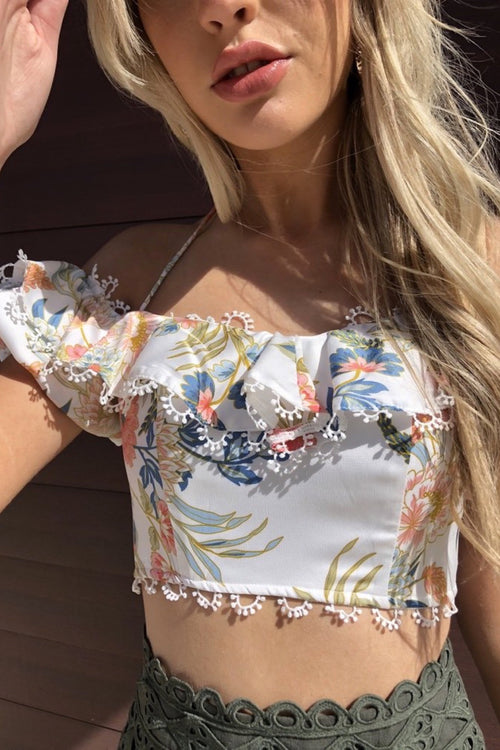 Blissful Top - White Floral