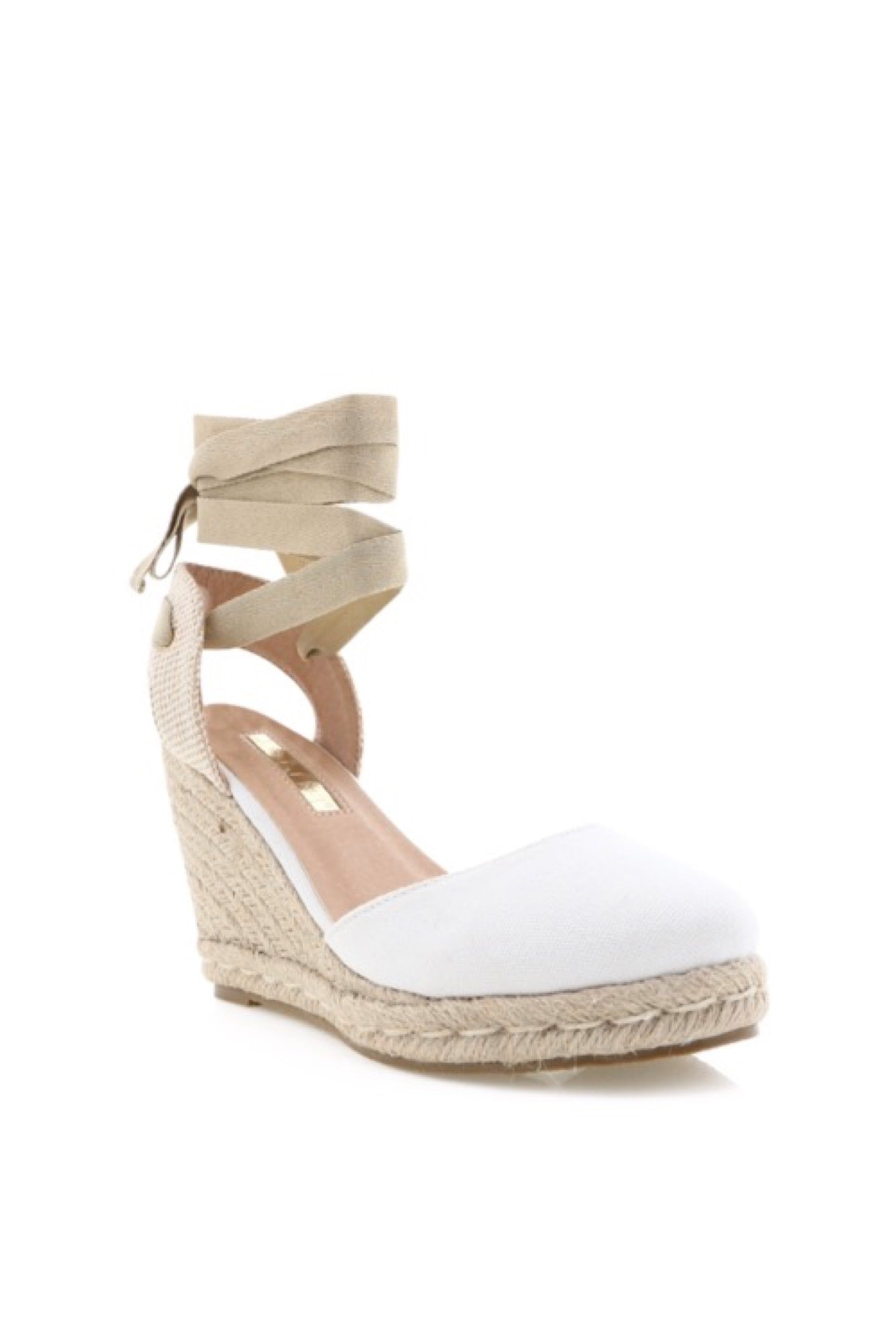 Carina Wedge - White Linen