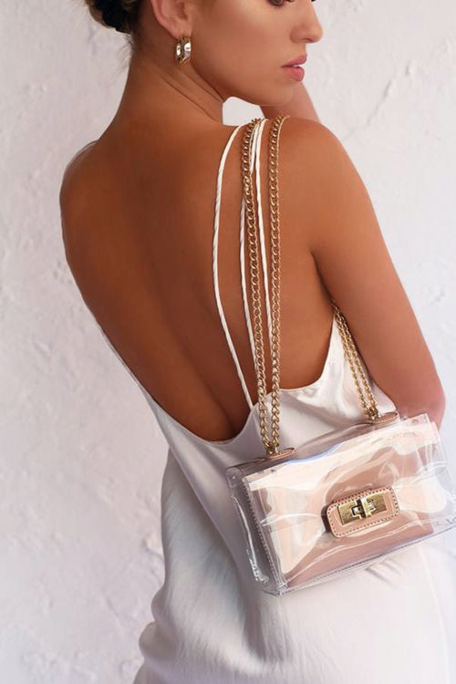Colette Shoulder Bag - Nude Patent