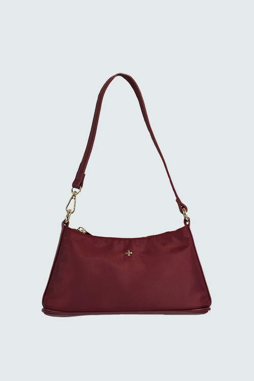 Danni Shoulder Bag - Merlot Nylon