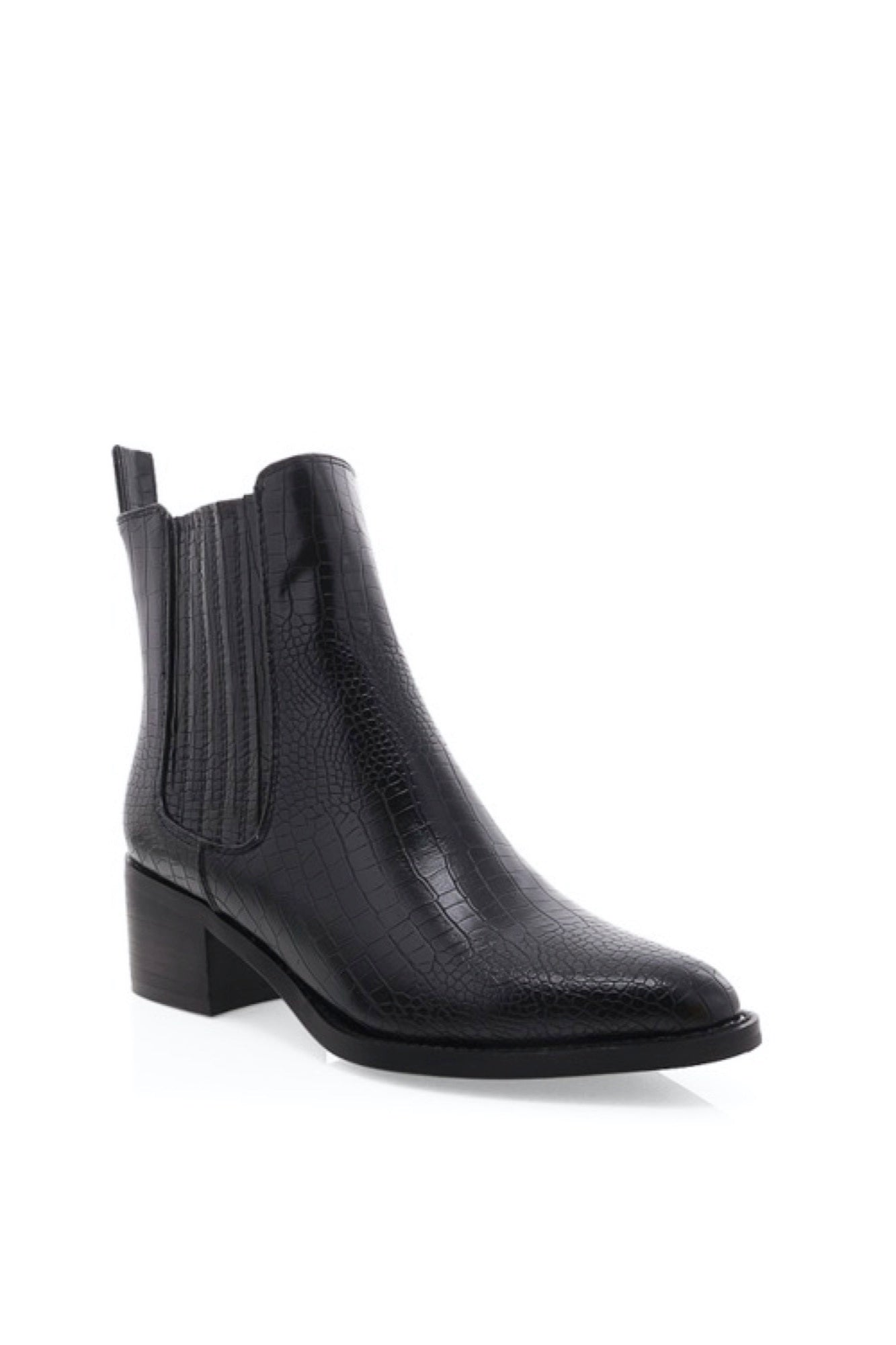Eamon Boot - Black Croc