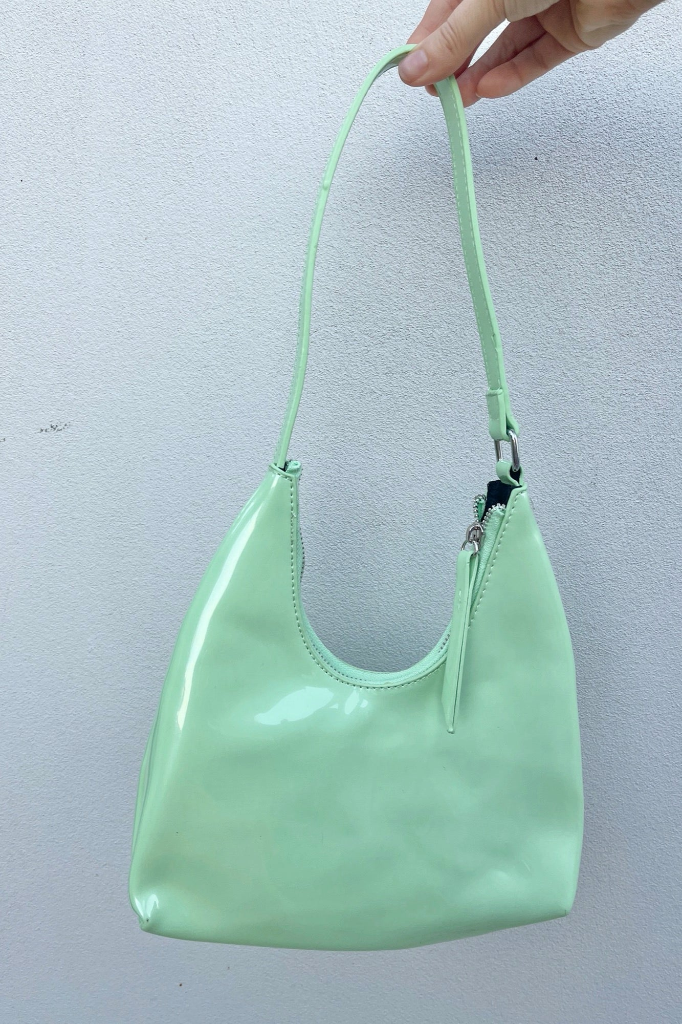 Pamela Patent Bag - Green