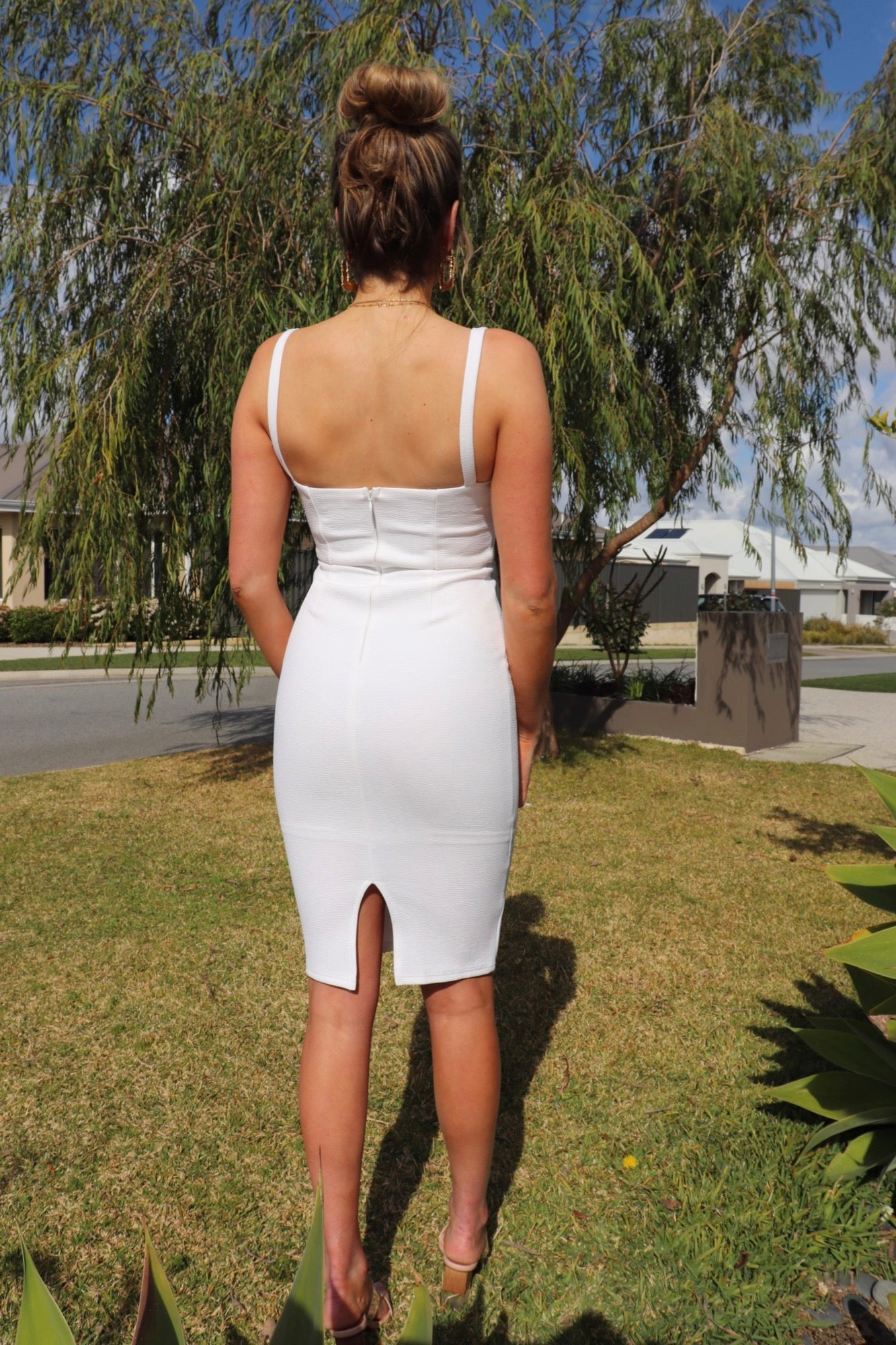 Feather Dress - White