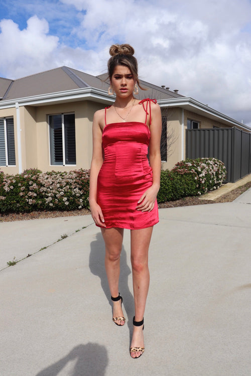 Eager To Please Dress - Red