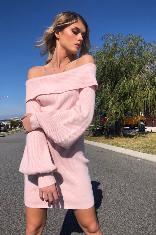 Rumour Has It Dress - Baby Pink