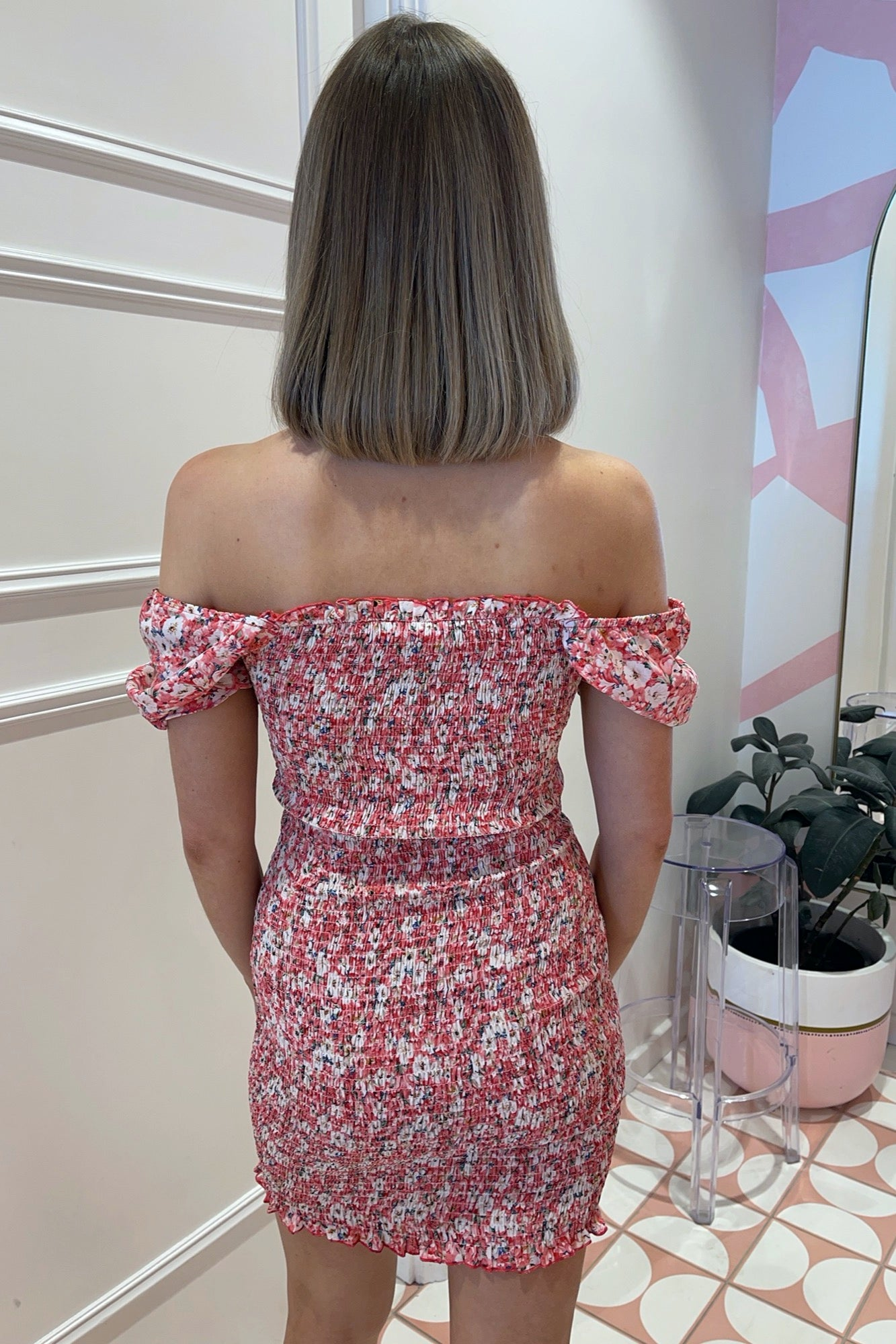 Bishop Dress - Red Floral