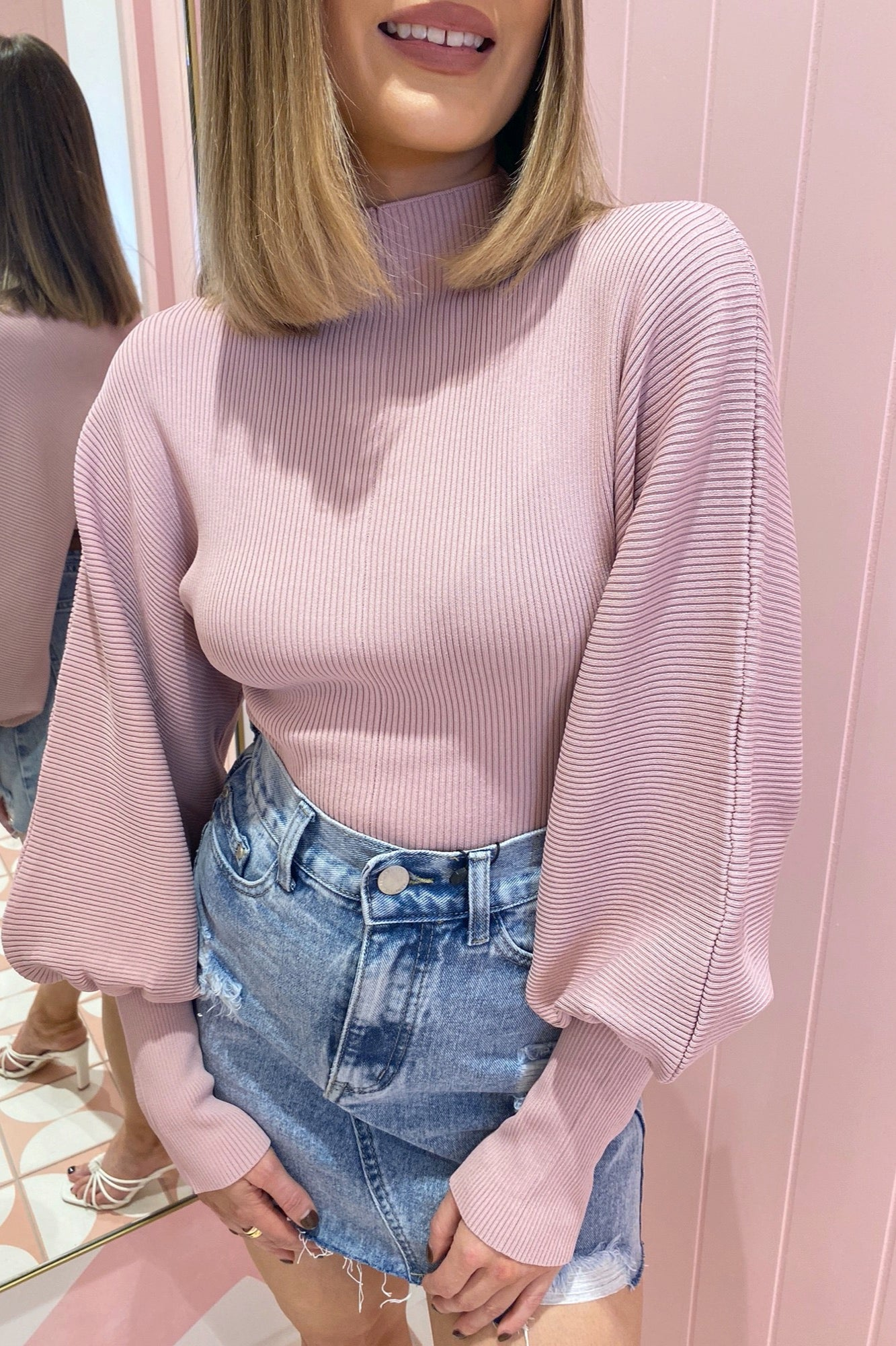 Tahlia Top - Dusty Pink