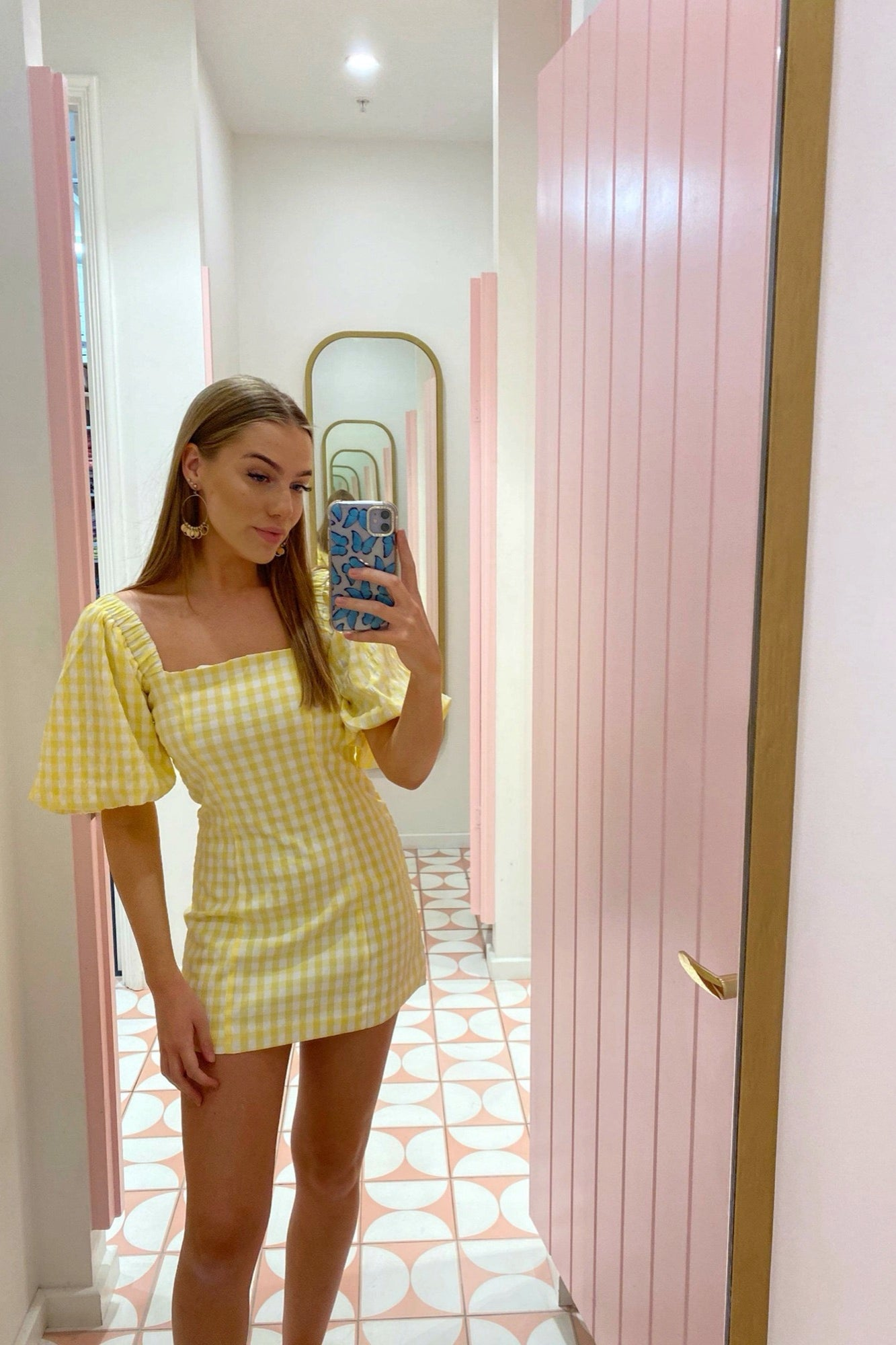 Tuscany Dress - Yellow Gingham