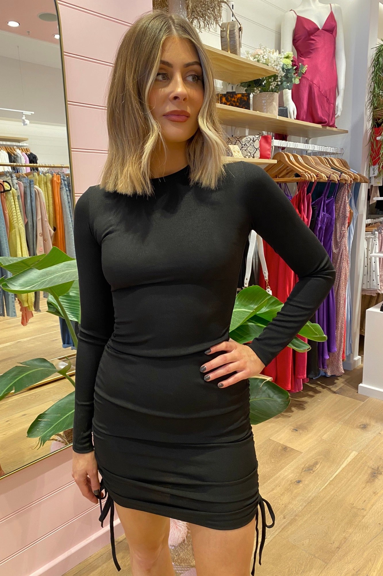 Queue LS Dress - Black