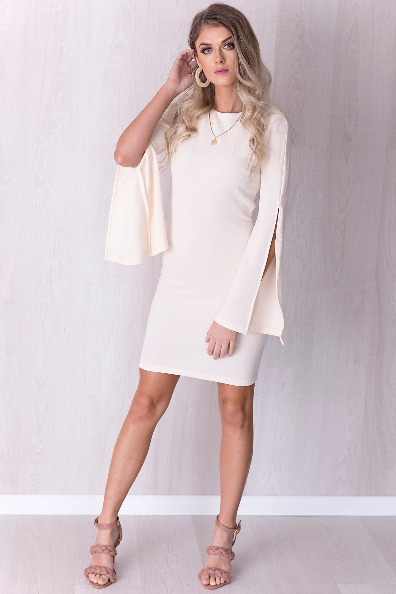 Crazy In Love Dress - Cream