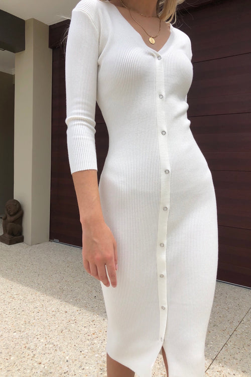 Yani Dress - White