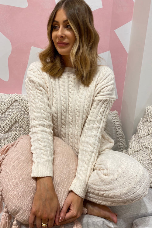 Live To Lounge Jumper - Cream