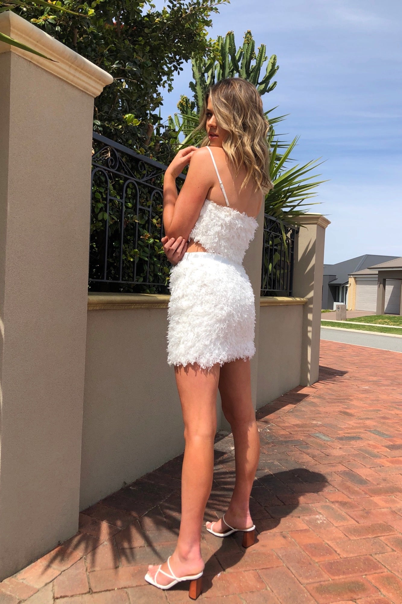 Feathers Skirt - White