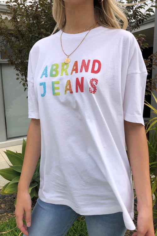 A Oversized Vintage Tee - White