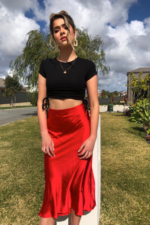 Ocean Deep Skirt - Red