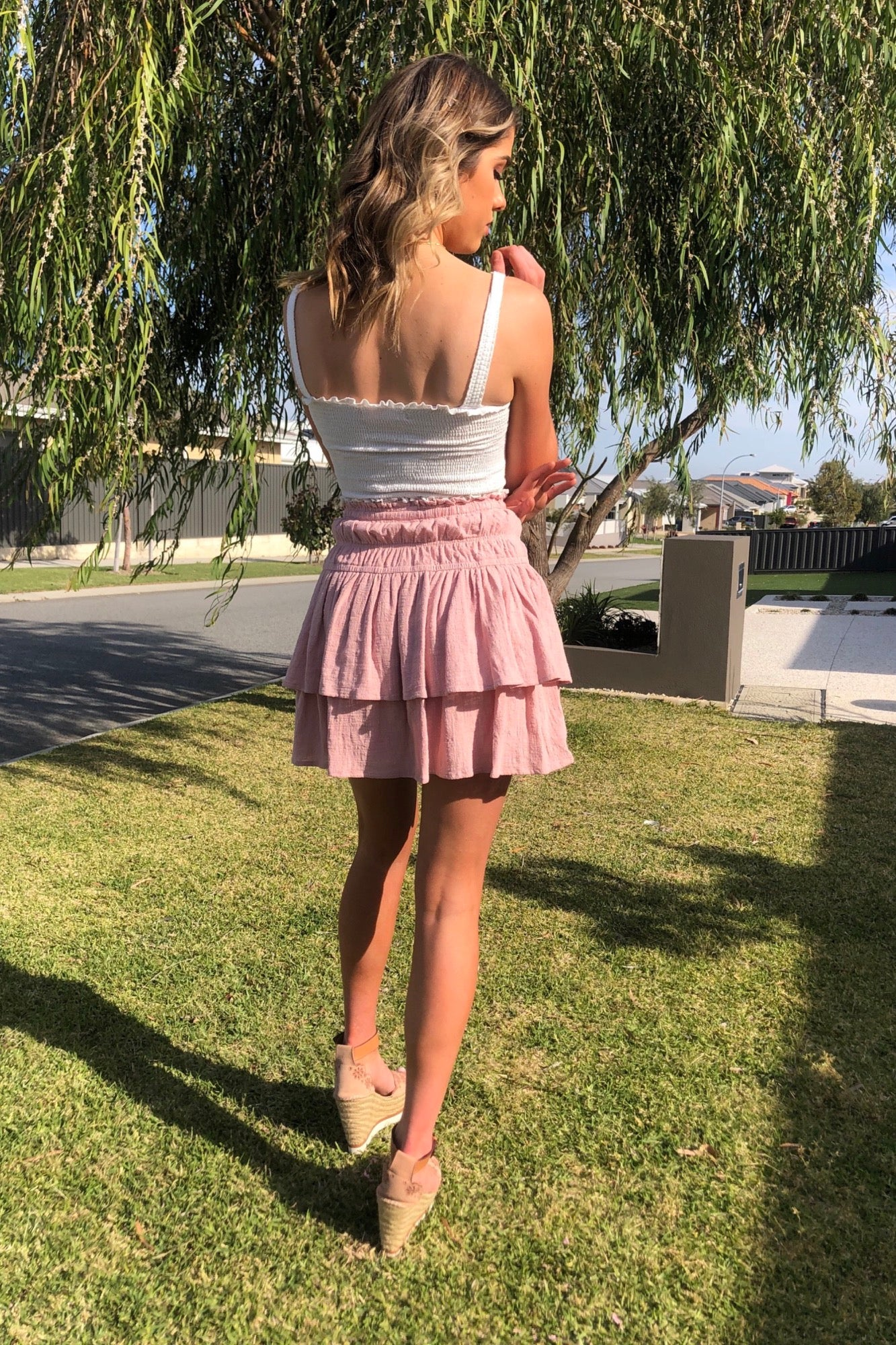 Flic Skirt - Dusty Pink