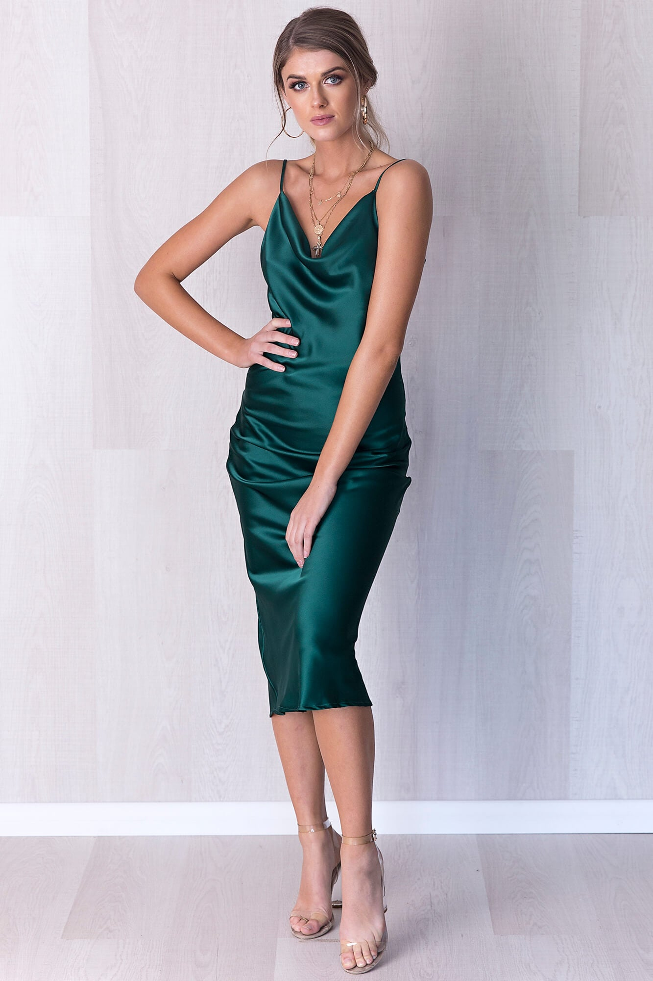 Saskia Dress - Emerald