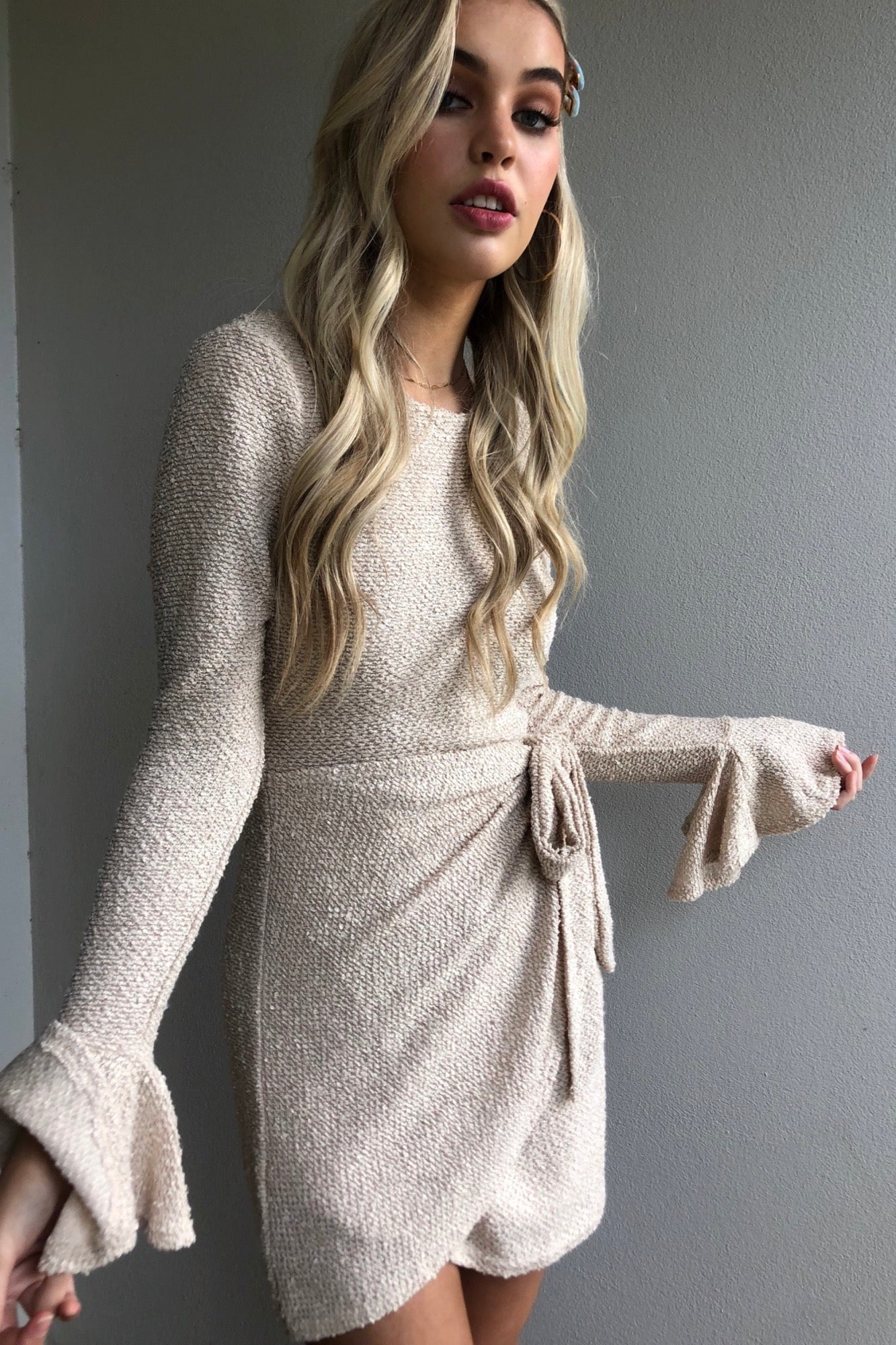 Under The Weather Dress - Nude