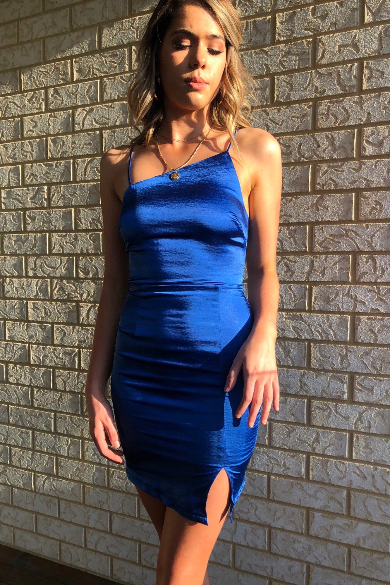 Attention Dress - Blue