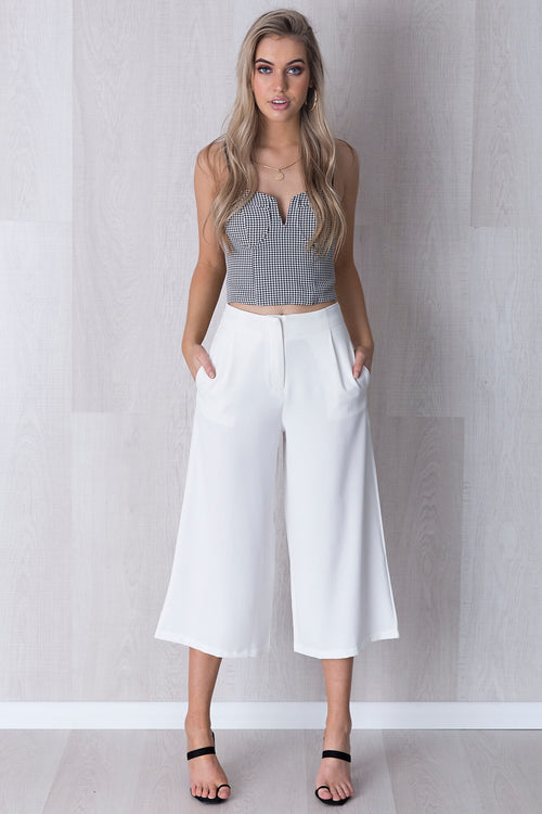 Stand By Me Culottes - White