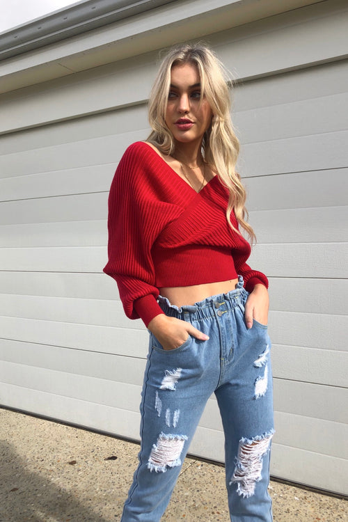Taya Knit - Red