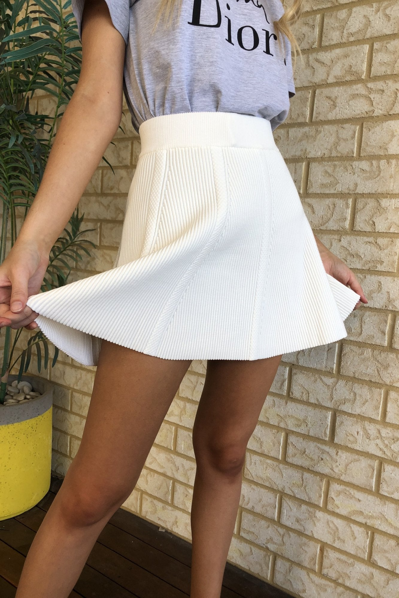 Centre Stage Skirt - White