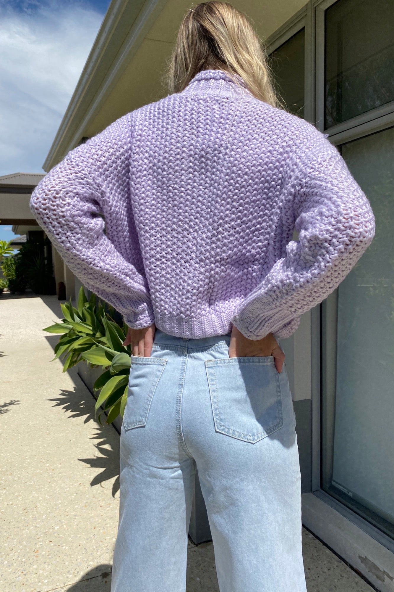 Cable Sweater - Lilac
