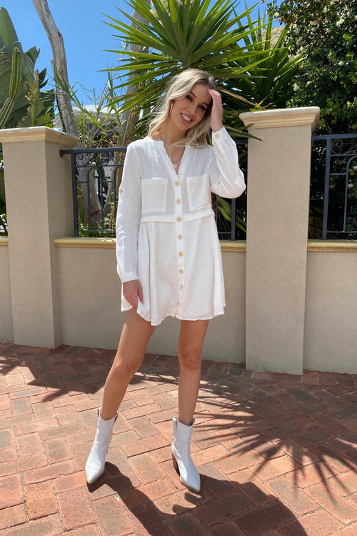 Becca Dress - White