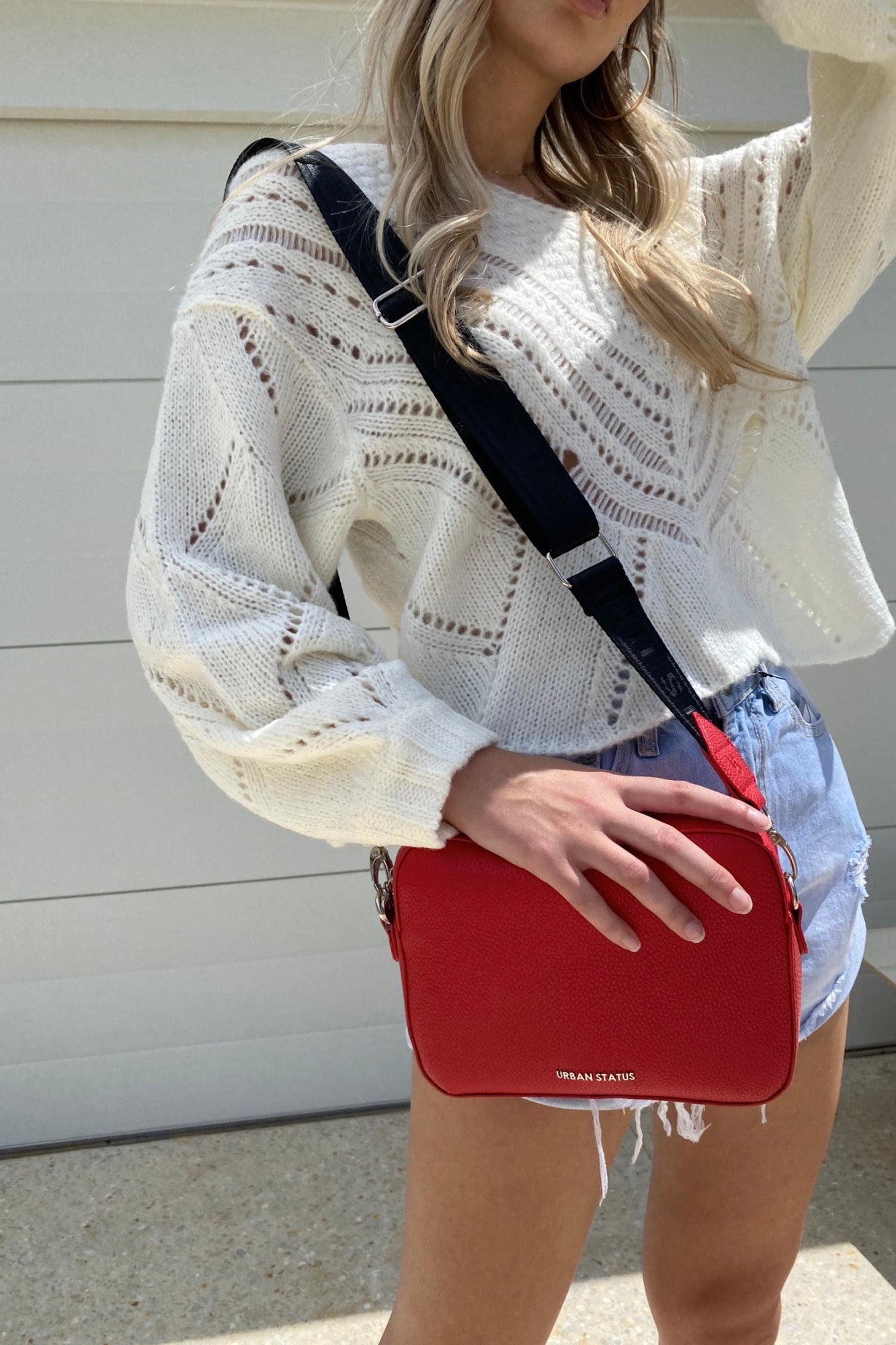 Bond Camera Crossbody - Red