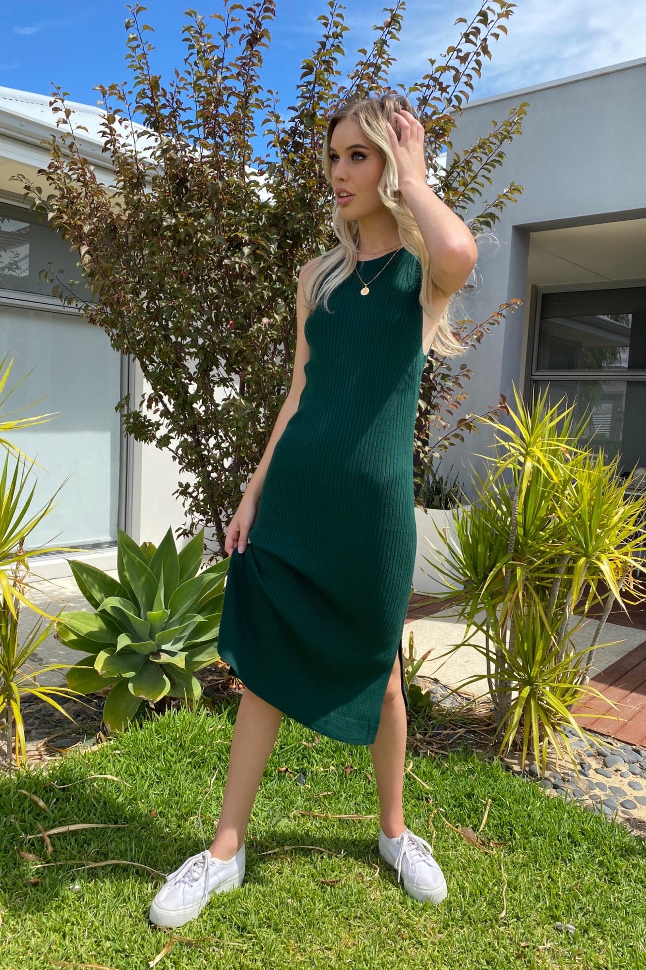 Loni Dress - Emerald