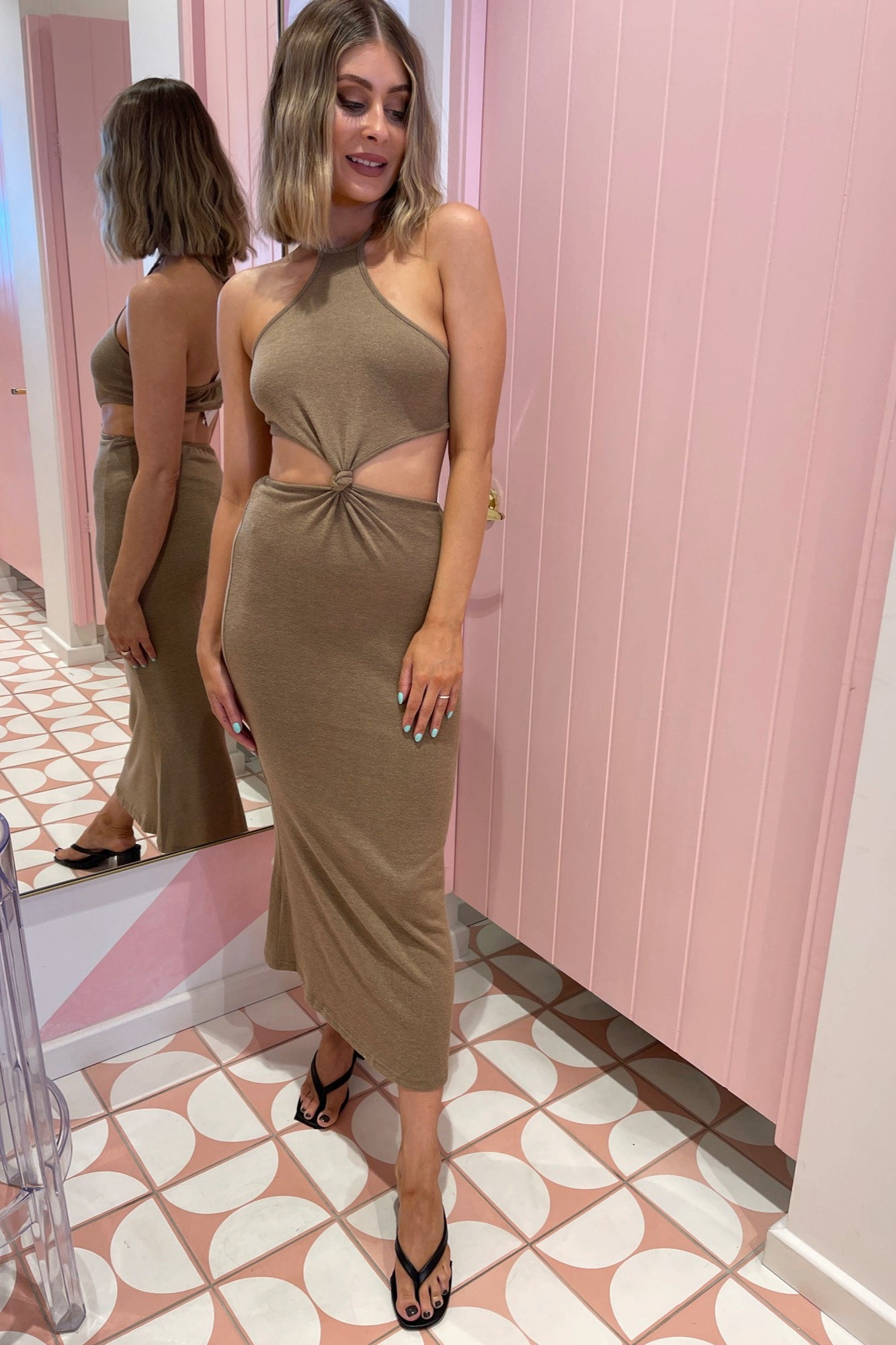 Moro Dress - Brown