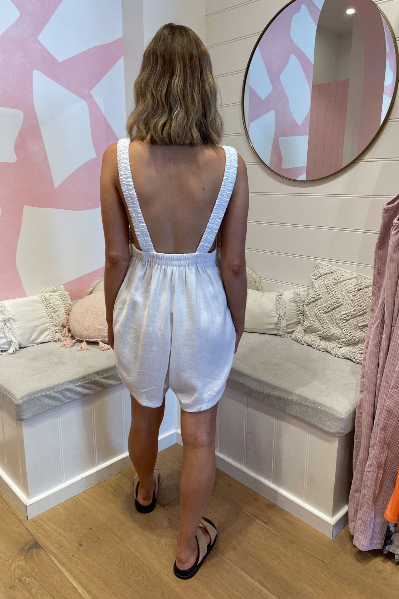 Tommy Romper - White