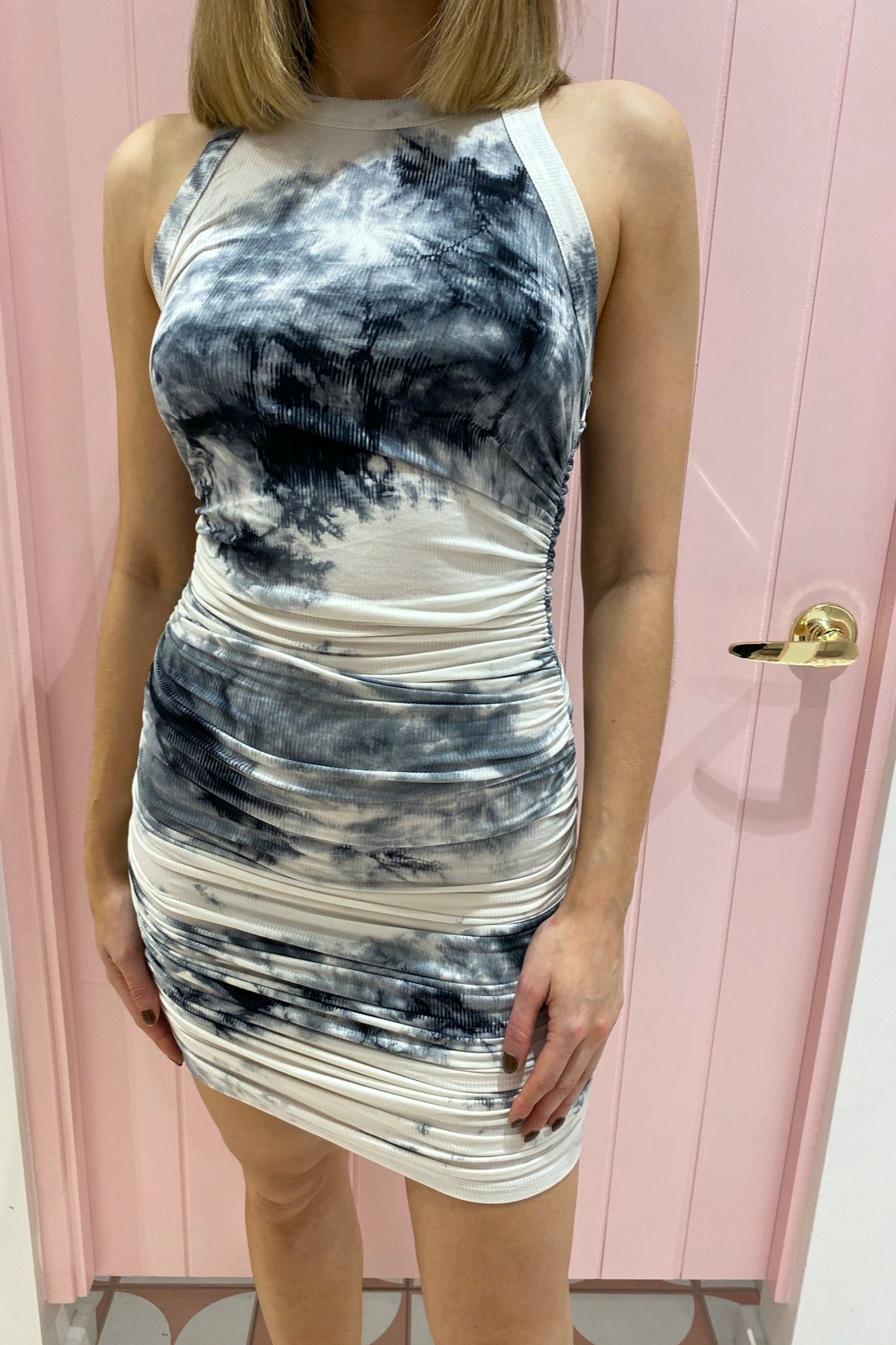 Eccentric Dress - Black Tie Dye