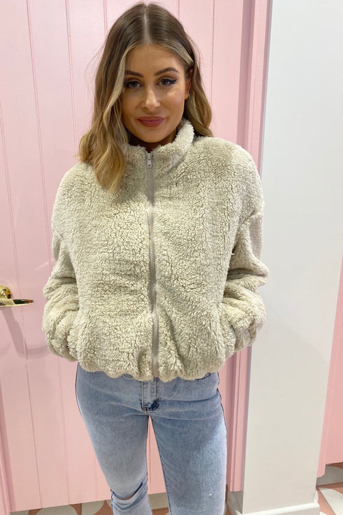 Swoon Fur Bomber - Beige
