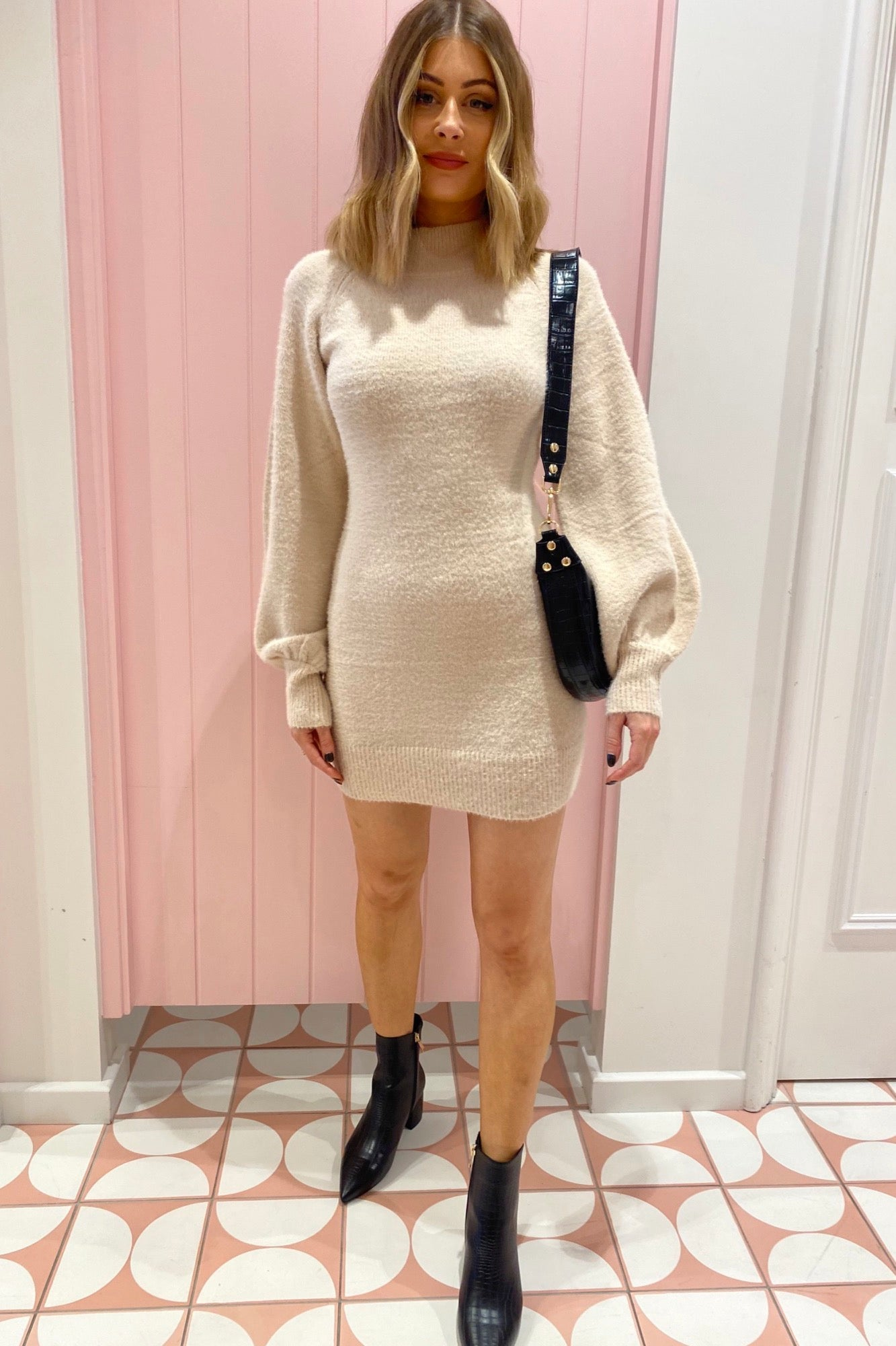 Thing For Me Dress - Beige