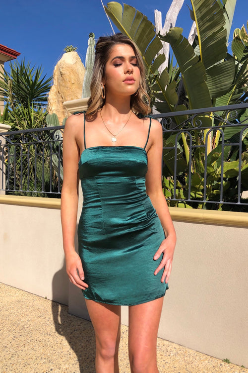 Eager To Please Dress - Emerald