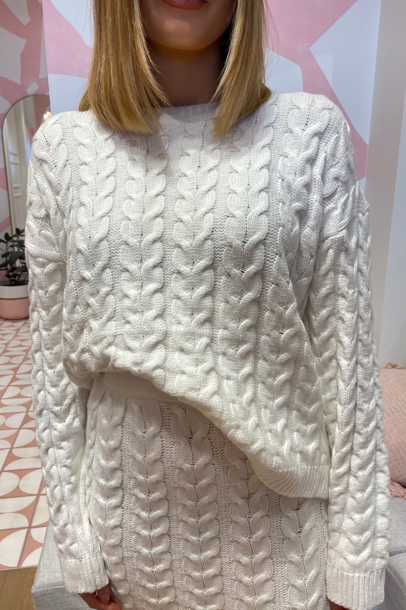 Saffia Sweater - White